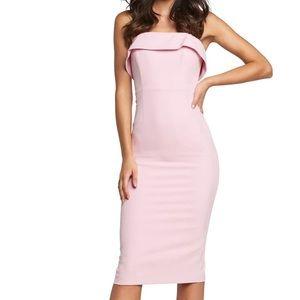 NWT Bardot Georgia Strapless Dress- Candy Pink